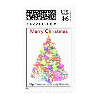 GothicChicz  Merry Christmas Postage
