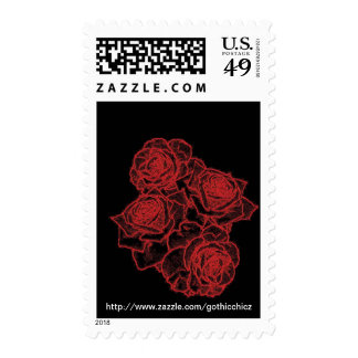 GothicChicz  Roses Postage