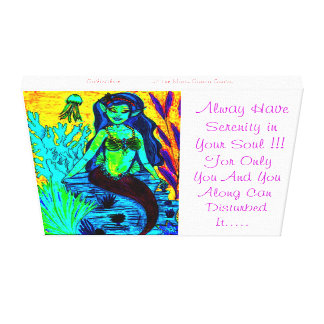 GothicChicz Serenity Wrapped Canvas Canvas Print