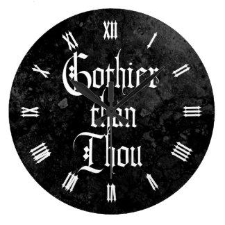 Gothier Than Thou Large Clock