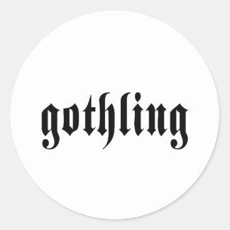 Gothling Item Classic Round Sticker
