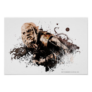 Gothmog Orc Vector Collage Poster