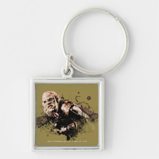 Gothmog Orc Vector Collage Silver-Colored Square Keychain