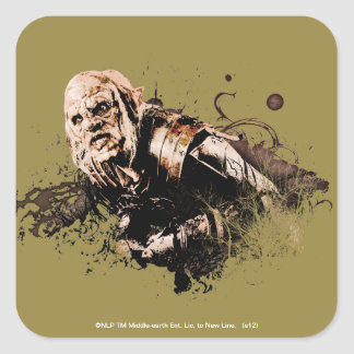 Gothmog Orc Vector Collage Square Sticker