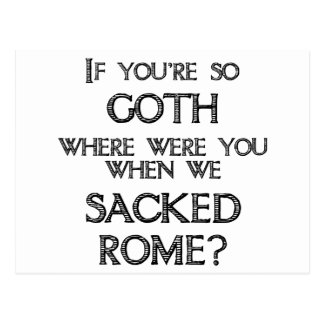 Goths & Vandals Post Card