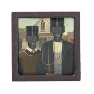 Gótico americano con una torsión caja de recuerdo de calidad