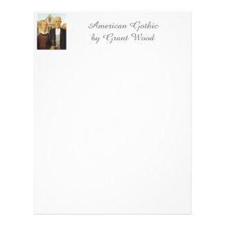 Gótico americano de Grant Wood, arte de la Membrete A Diseño