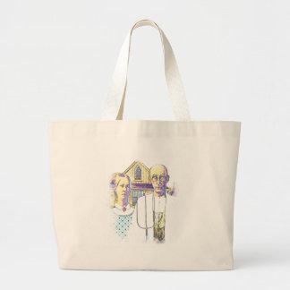 Gótico americano de neón con una torsión bolsas de mano