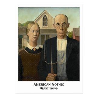 Gótico americano, Grant Wood Postal
