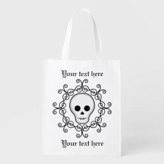 Gótico blanco bonito bolsas para la compra
