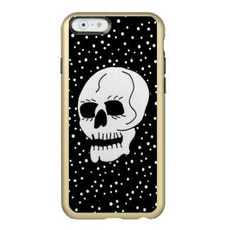 Gótico clásico blanco de Halloween del cráneo Funda Para iPhone 6 Plus Incipio Feather Shine