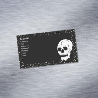 Gótico clásico blanco de Halloween del cráneo Tarjetas De Visita Magnéticas (paquete De 25)