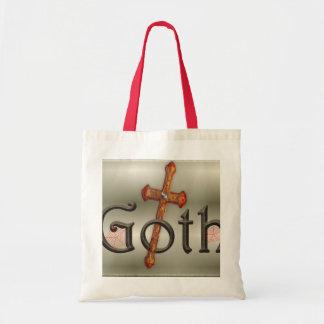 Gótico con la cruz directa bolsa tela barata