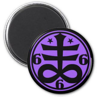 Gótico cruzado satánico oculto del símbolo imán redondo 5 cm