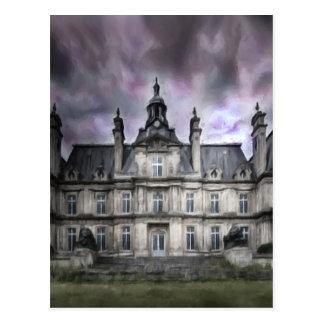 gótico de la ruina de los fantasmas del castillo tarjeta postal