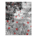 Gótico del día de letra roja que casa la tarjeta invitación 10,8 x 13,9 cm