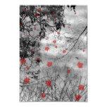 Gótico del día de letra roja que casa la tarjeta invitación 8,9 x 12,7 cm