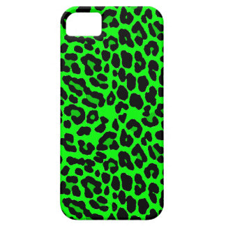 Gótico del punk del estampado leopardo de la verde iPhone 5 Case-Mate cobertura