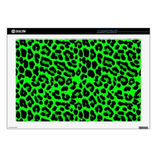 Gótico del punk del estampado leopardo de la verde skins para 43,2cm portátil