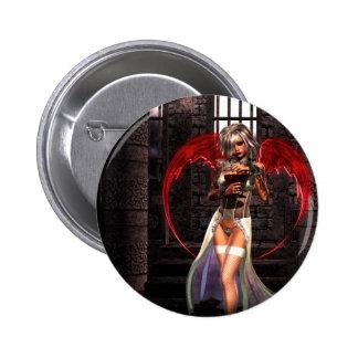 Gótico del vampiro del ángel de la sangre pin redondo 5 cm
