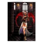 Gótico del vampiro del ángel de la sangre tarjeta