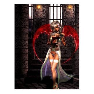Gótico del vampiro del ángel de la sangre tarjeta postal