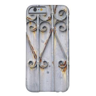 Gótico elegante rústico del metal del modelo del funda de iPhone 6 barely there