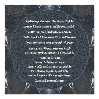 Gótico fantasmagórico de Halloween del Web de Invitacion Personal