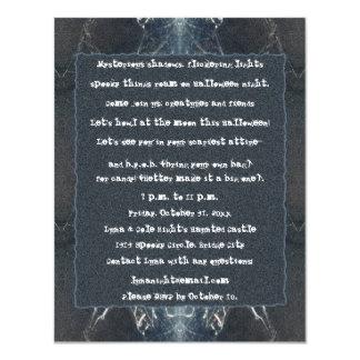 Gótico fantasmagórico de Halloween del Web de Invitación