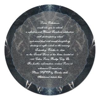 Gótico fantasmagórico de Samhain del Web de araña Invitación Personalizada