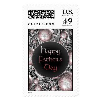Gótico feliz del día de padre sello postal