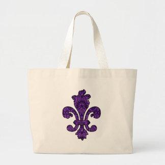 Gótico violeta crepuscular bolsa tela grande