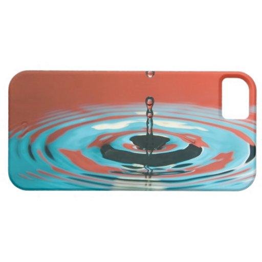 Gotita de agua anaranjada y ciánica iPhone 5 carcasas