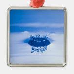 Gotita de agua azul (3) adorno de navidad