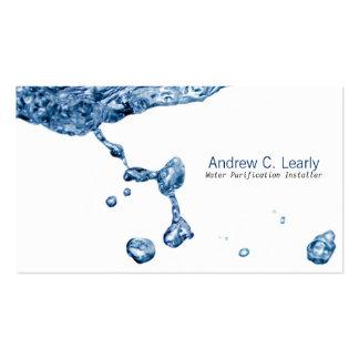 Gotita de agua del claro de la tarjeta de visita d