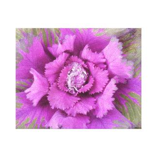Gotita de agua hermosa en una flor rosada lienzo envuelto para galerías