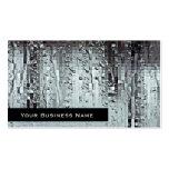 Gotitas abstractas modernas metálicas de la lluvia plantillas de tarjetas de visita