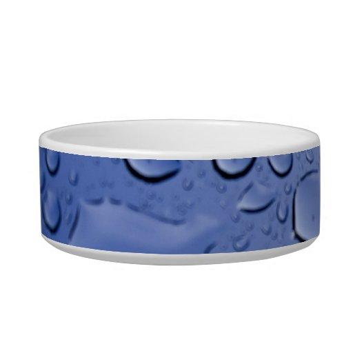 Gotitas de agua azul comedero para mascota