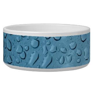 Gotitas de agua azul tazon para perro