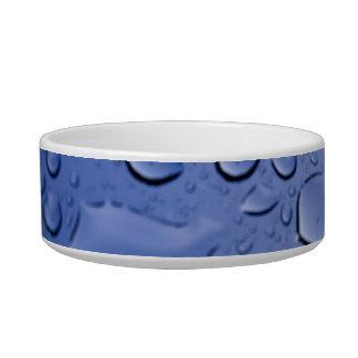 Gotitas de agua azul tazón para gato