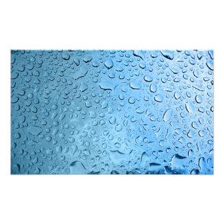 Gotitas de agua azul cojinete