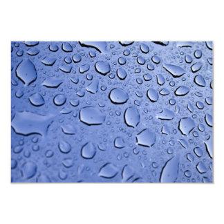 """Gotitas de agua azul invitación 3.5"""" x 5"""""""