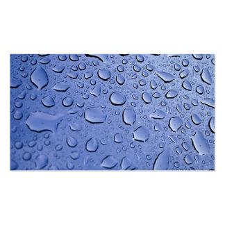 Gotitas de agua azul plantillas de tarjetas de visita