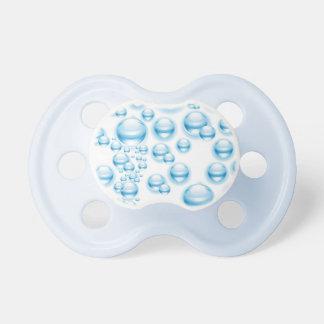 Gotitas de agua chupetes de bebe