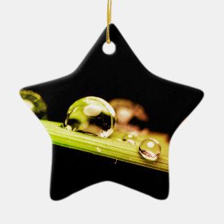 Gotitas de agua hermosas adorno de cerámica en forma de estrella