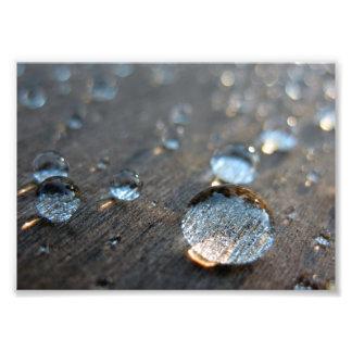 Gotitas de agua impresiones fotograficas