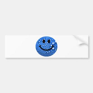 Gotitas de agua sonrientes pegatina de parachoque