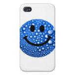 Gotitas de agua sonrientes iPhone 4/4S fundas