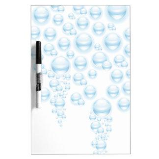 Gotitas de agua tablero blanco