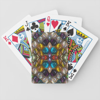 Gotitas de cristal coloreadas ricos baraja de cartas